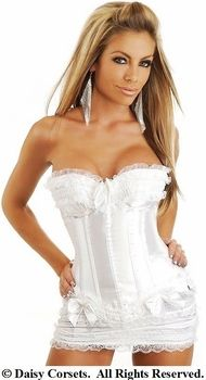 Burlesque Corset & Skirt Set | White [DC726] - $68.00 : Clubwear, Pole Dancing Clothes, Exotic Wear and Stripper Clothes