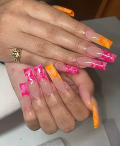 Acrylic Nail Designs Coffin, Long Square Acrylic Nails, Bling Acrylic Nails, Sparkly Nails, Best Acrylic Nails, Drip Nails, Polygel Nails, Swag Nails, Nail Extensions Acrylic