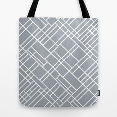 Map Outline Grey 45  Tote Bag #map #blocks #grid #squares #grey #white