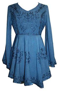 02 B Medieval Gothic Embroidered Flair Blouse Tunic [ Blu... https://www.amazon.com/dp/B00QOQ4U8W/ref=cm_sw_r_pi_dp_x_Wm8.xbBF8AA2V