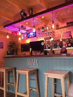 our bar Blockhaus Pubs Diy Home Bar, Home Pub, Home Bar Decor, Bars For Home, Pub Decor, Outdoor Garden Bar, Garden Bar Shed, Backyard Bar, Garden Office