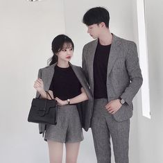 Pin by jeonjk on ; ulzzang ootd in 2019 matching couple outfits, fashion co Style Ulzzang, Mode Ulzzang, Ulzzang Fashion, Korean Boys Ulzzang, Matching Couple Outfits, Matching Couples, Couple Chic, Couple Style, Couples Assortis