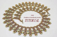 Detailed PDF tutorial for necklace Featherls with by DESIBEADS