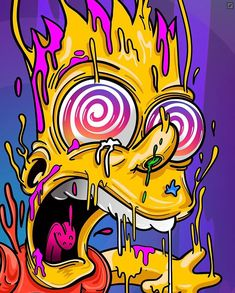 New funny art painting weird ideas Graffiti Art, Graffiti Wallpaper, Trippy Wallpaper, Cartoon Wallpaper, Simpsons Drawings, Simpsons Art, Trippy Drawings, Art Drawings, Funny Drawings