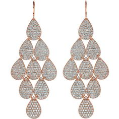 Irene Neuwirth Rose Gold & Diamond Nine-Drop Earrings