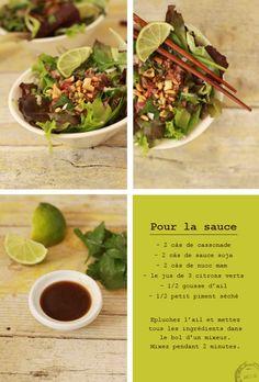 Une salade au bœuf d'inspiration thaïlandaise, simple et dépaysante.