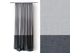 Linen curtains Pinch pleat drapery panel Color block curtain Unlined or blackout lined drapes by LovelyHomeIdea on Etsy https://www.etsy.com/listing/73170957/linen-curtains-pinch-pleat-drapery-panel