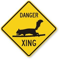 Squirrel Crossing Symbol Heavy Duty Aluminum Sign 80 mil 24 x 24 *** You can get additional details at the image link.