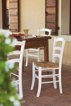 Sedia CECCHETTO modello Venezia legno chiaro sedile paglia