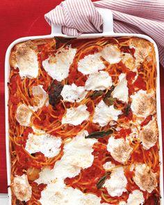 Baked Speghetti and Mozzarella