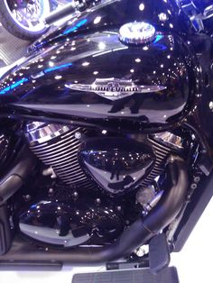 Nice engine detail on the Suzuki Boulevard Motorcycle Cruiser. #NYMotorcycleShows #Bikes #Cruisers #Motorcycles