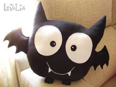 Sewing Cushions Bat Boy CUSHION Decorative plush pillow by lovelia on Etsy - Cute Pillows, Baby Pillows, Plush Pillow, Fall Halloween, Halloween Crafts, Halloween Decorations, Bat Boys, Sewing Pillows, Sewing Toys