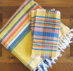 Woven Cotton Plaid Tablecloth with 6 Napkins-Mexico by MarketHome, $34.00