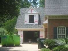 adding third bay to exishting two car garage | ... garage be too much? , This is the 1 1/2 car garage addition. We will
