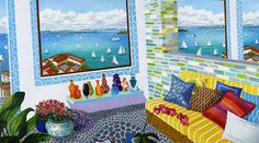 Jubilance by Roxa Smith, oil on canvas, 2013 Open Window, House Art, Still Life, Oil On Canvas, Kids Rugs, Inspire, Windows, Paintings, Artists