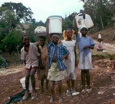 This photo show that Haiti held the title of the poorest country in the western hemisphere.
