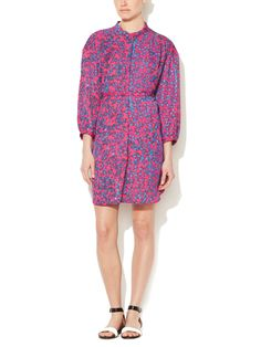 Printed Front Button Shirtdress by See by Chloe at Gilt
