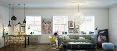 Living Room Diner1 : Awesome Studio Loft Design Ideas | General, Sophisticated Decor
