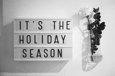It's the holiday season, inspiring lightbox words and ideas // Blog - Jennifer Sandström