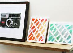 3M Geometric Canvas Art for your #dorm room #easy #DIY