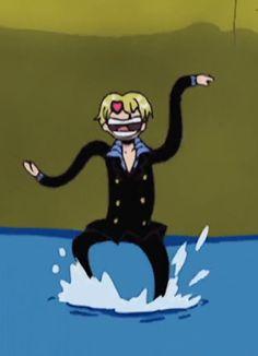Sanji: NAMI-SAN <3 One Piece Ep, Sanji One Piece, One Piece Funny, One Piece Comic, One Piece Images, Boca Anime, Ichigo Y Orihime, Otaku, One Piece Drawing