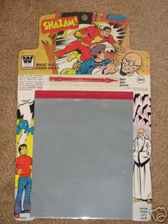 Magic Slate - Ah yes. I remember these. Artist, that I am. Used it a lot. Don't think was the Shazam one, tho.