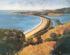 "Daily Paintworks - ""View of Stinson Beach"" - Original Fine Art for Sale - ©…"