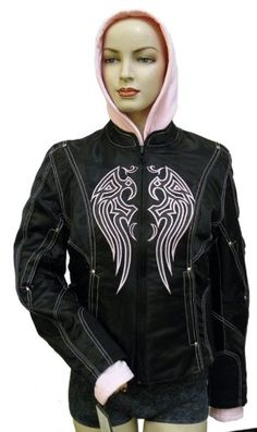 Special Offers - Ladies Textile Jacket w/ Pink Embroidered Wings on Front and Removable Sweatshirt - In stock & Free Shipping. You can save more money! Check It (May 07 2016 at 04:22AM) >> http://motorcyclejacketusa.net/ladies-textile-jacket-w-pink-embroidered-wings-on-front-and-removable-sweatshirt/
