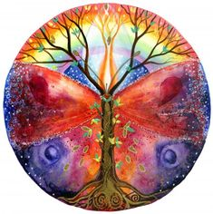 A beautiful mandala - all the elements of the season - light, love, transformation and new life