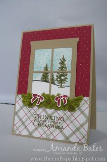 The Craft Spa - Stampin' Up! UK independent demonstrator : Hearth & Home Happy Scenes Card - Looking outside!