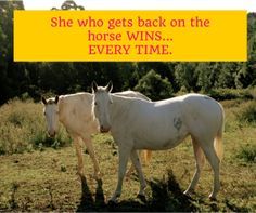 I fell off the wagon hard. We all do. But the chick who wins is the one who always gets back on the damn horse. Be that gal. You've got it in you.