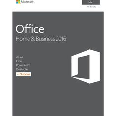 Office Home & Business 2016 for Mac, 1 Mac (Product Key Card) - Mac, Grey