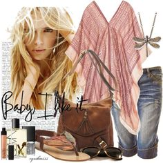 """Silk Poncho"" by cynthia335 on Polyvore"
