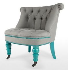 10 Amazing and Unique Tips Can Change Your Life: Upholstery Diy Footstool modern upholstery home tours.Upholstery Studio How To Paint upholstery fabric fun.Upholstery Couch Do It Yourself. Living Room Upholstery, Upholstery Trim, Upholstered Furniture, Custom Furniture, Tufted Chair, Upholstery Cushions, Furniture Styles, Spray Paint Chairs, Painted Chairs