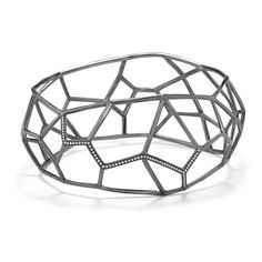 Ippolita | IPPOLITA Wicked Cage Cuff with Diamonds - Bangles - Sterling Silver