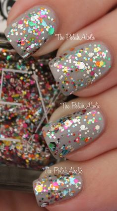 Lex Cosmetics Arcoiris rainbow glitter nail polish