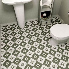Check out our Twenties 7 3/4 x 7 3/4 Patterned Tile in Vertex. Perfect for Mid-century design this ceramic floor and wall tile starts at $5.49 SQ FT. It features a medium-sheen glaze, dramatic geometric pattern in hues of inky and pale gray.
