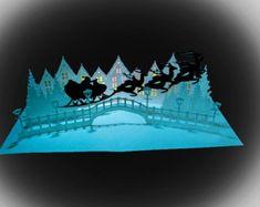 3D SVG Shadow Box Lantern Let it Snow by MySVGHUT on Etsy