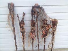 Tiki torches 2014 Voodoo Party, Voodoo Halloween, Creepy Halloween, Halloween 2017, Halloween Projects, Halloween Party Decor, Halloween Costumes, Halloween Ideas, Samhain Decorations