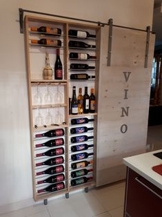 cantinetta vini con sliding door Wine cellar ideas and inspirations Wine cellars are dreams of luxury that many homeowners don't even think about. But if your love of wine is big enough to make you think that your wines deserve a separate room, there a