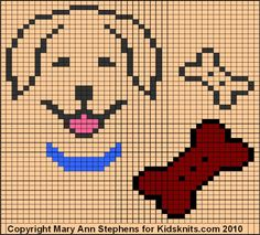 Golden Retriever Chart by Mary Ann Stephens, copyright 2010