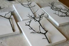 trees made from branches