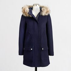 NWT J Crew chateau vail parka navy blue 00 Make me an offer. Got as gift for Xmas, not sure if this is from J crew or the J crew Factory, gorgeous coat, just not my style :) J. Sweater Weather, J Crew Style, My Style, Discount Mens Clothing, Outerwear Women, Fall Wardrobe, Winter Fashion, Winter Jackets, Clothes For Women