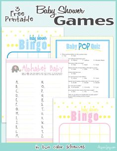 3 free printable baby shower games -for boys or girls