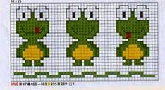 **Blog Amor Perfeito** Gráficos de ponto cruz: Sapinhos Cross Stitch Bird, Pattern, Fictional Characters, Blog, Gardening, Crochet Alphabet, Toad, Crochet Flowers, Frogs