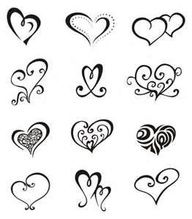 cat and heart paw print tattoos designs - Google Search