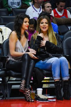 At a L.A. Clippers game with Khloe Kardashian. See all of Kendall Jenner's best looks.