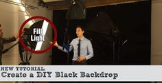 How to set up a black backdrop