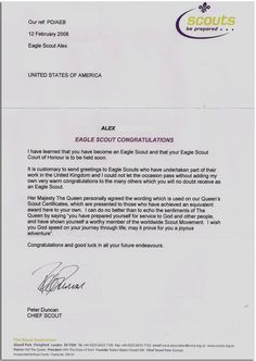 How to request an eagle scout letter of congratulation scouting check out 30 of the coolest eagle scout letters ive seen bryan on altavistaventures Choice Image