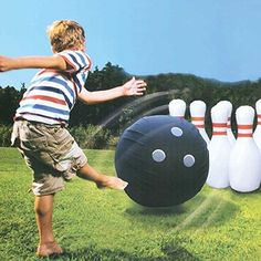 Etna Giant Inflatable Bowling Set - http://hobbies-toys.goshoppins.com/outdoor-toys-structures/etna-giant-inflatable-bowling-set/